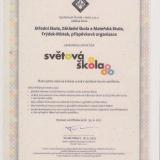 Certifikát Světová škola 2019