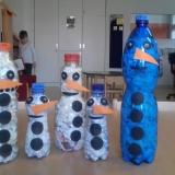 den Modrá-bílá sněhuláci